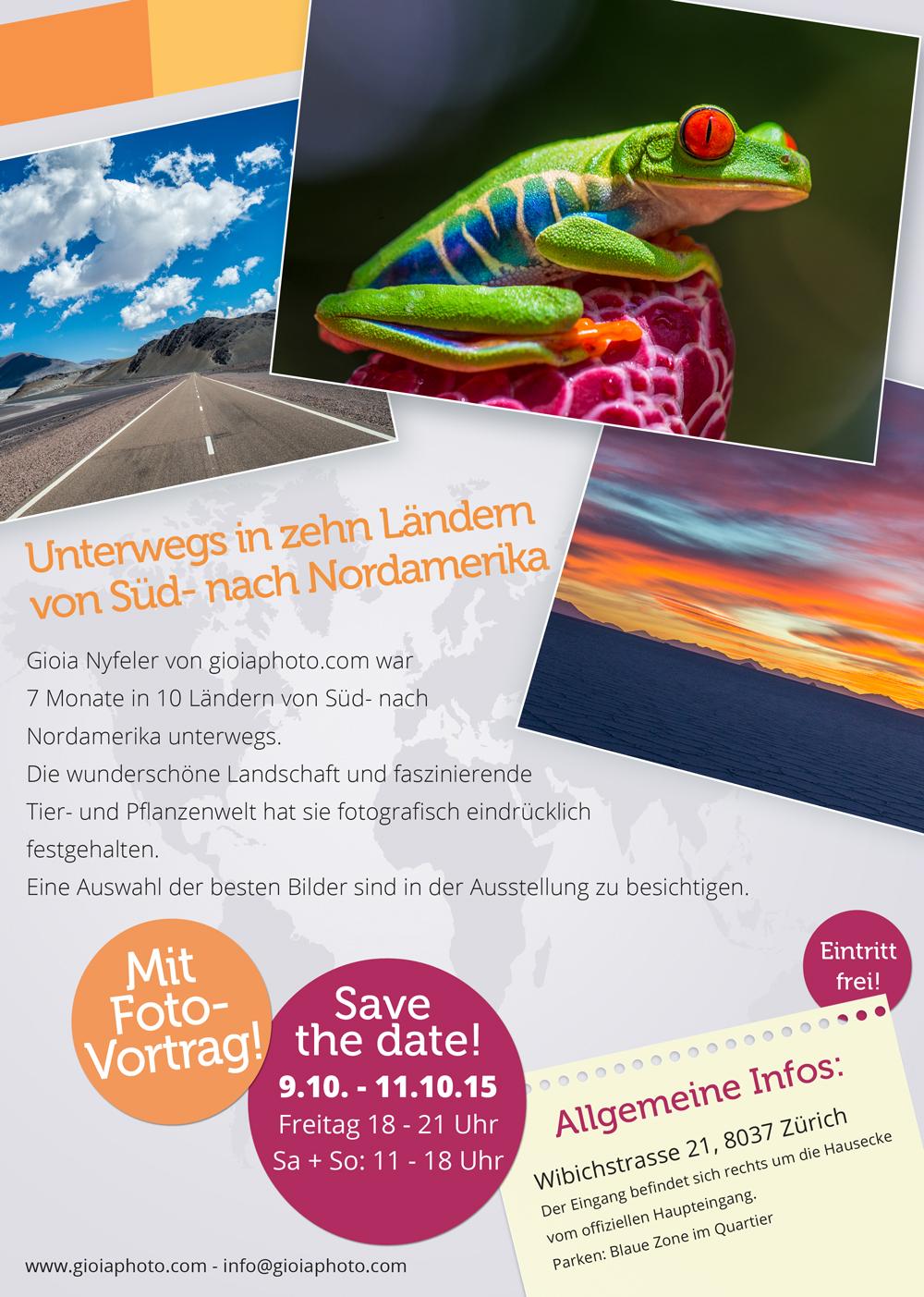 Ausstellung Gioia Flyer